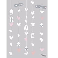 Lot stickers Angel guirlande coeurs - Lilipinso and Co