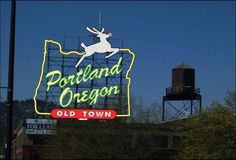 Portland - Top of White Stag building