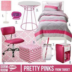 Dorm room inspiration from Target. College Room, College Life, Dorm Comforters, Dorm Room Styles, Room Wanted, Dorm Furniture, Dorm Life, Pink Room, Decorate Your Room