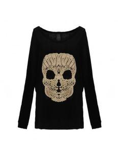 Skull Long Sleeved T-Shirt