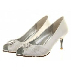Serafina by Rainbow Couture for Rainbow Club Dyeable Ivory or White Satin Designer Wedding or Occasion Shoes