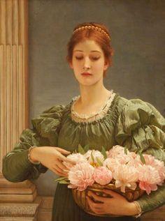 Charles Edward Perugini : Peonies 1887