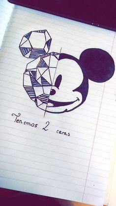 mouse# disney drawings ideas in Love Drawings, Colorful Drawings, Art Drawings Sketches, Cartoon Drawings, Easy Drawings, Arte Disney, Disney Art, Disney Pencil Drawings, Drawing Disney
