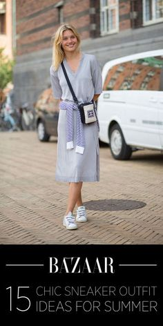 15 chic outfit ideas for white sneakers: