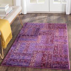Safavieh Monaco Purple/ Multi Rug (3' x 5')