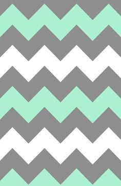 Mint White Grey Chevron Art Print by CreativeAngel - X-Small Chevron Phone Wallpapers, Grey Chevron Wallpaper, Chevron Art, Chevron Patterns, Cute Wallpapers, Mint Chevron, Print Wallpaper, Pattern Wallpaper, Cute Backgrounds