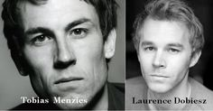 Tobias Menzies and Laurence Dobiesz - brother Jack and Alex Randall in Outlander