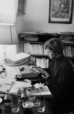 Paris. French writer Françoise SAGAN at home. 1958. by Burt Glinn