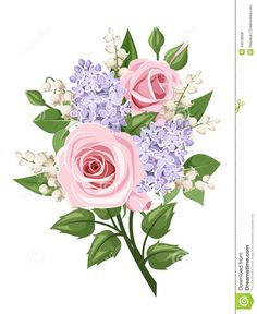Pink roses for Miranda, lily of the valley for Chloe, and either change the lilacs to violets for Alasen or leave the lilacs to remember grandpa and add the violets somehow...