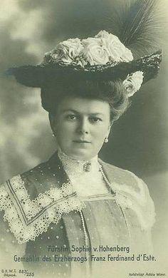 Sophie Chotek, Duchess of Hohenberg 1868 – 1914; wife of Archduke Franz Ferdinand