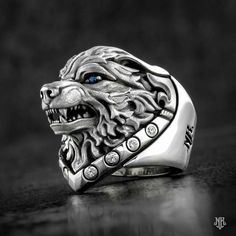 The World Of The Rings -0038 Skull Jewelry, Jewelry Art, Jewelry Accessories, Jewelry Design, Mens Gemstone Rings, Chloë Grace Moretz, Estilo Cool, Biker Rings, Animal Rings
