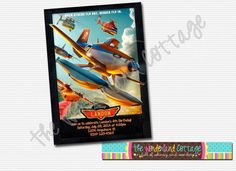Disney Planes Fire and Rescue Invitation by TheWonderlandCottage, $6.00