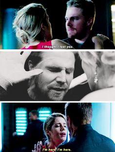 "#Arrow 4x09 ""Dark Waters"" - ""I love you"" #OliverQueen #FelicitySmoak"