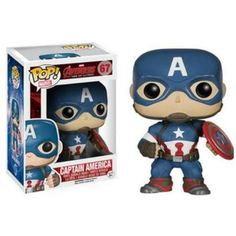 POP Marvel: Avengers 2 - Captain America from Funko. The Age of Ultron is upon us and the Avengers are here in Pop form to save the day. This Captain America po Funko Pop Marvel, Marvel Avengers, Avengers Film, Marvel Comics, Marvel Fan, Marvel Captain America, Captain America Figure, Figurine Pop Marvel, Statues