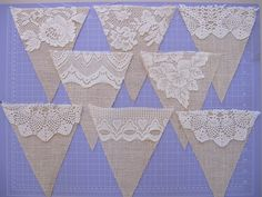 Burlap and Lace Bunting | Flickr - Photo Sharing!