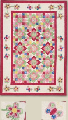 Kids Quilts - Big Butterfly Pattern.