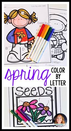 spring color by letter print go - Fun Letters To Print