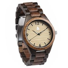 All Wood Watch // Ebony   Walnut 04 from Tree Hut Design