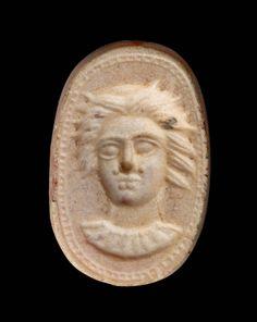 Scaraboid gem with female head | Museum of Fine Arts, Boston