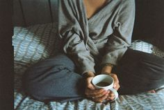Comfy clothes and relaxing with coffee in the morning and afternoon..... the best ;)