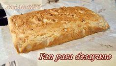 Pan desayuno sin gluten, sin lactosa, sin azucar Paleo Bread, Paleo Diet, Keto Recipes, Healthy Recipes, Bread Cake, Healthy Cooking, Low Carb, Gluten Free, Snacks
