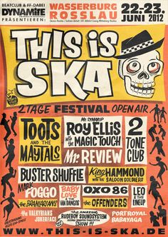 This Is Ska Festival in Germany! Great place to enjoy some good ol' SKA.