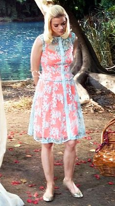 Jaime King, as Lemon Breeland, on Hart Of Dixie Fashion wore a Nanette Lepore Varsity Lace Dress