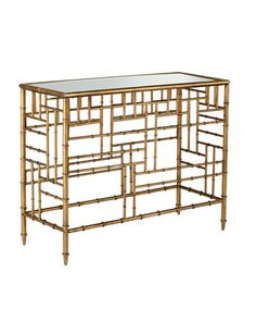 "Brass ""Bamboo"" Console - Horchow"