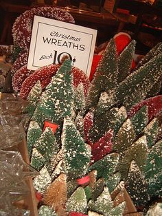 Bottle Brush Trees & Wreaths...
