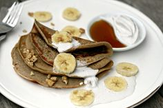 Buckwheat Pancakes With Vanilla Coconut Cream