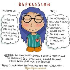 Depression lies to us, that's just what it does. After a while of listening to these lies, we internalise them, and they become almost… Mental And Emotional Health, Mental Health Matters, Mental Health Awareness, Disability Awareness, Self Care Activities, Therapy Activities, Therapy Worksheets, Mindfulness Psychology, Coaching
