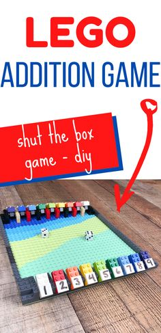 We& played Shut the Box for years at my parents house and it& such a & DIY Shut the Box Game out of LEGO & Simple Addition Fun Read Lego Board Game, Math Board Games, Board Games For Kids, Family Game Night, Family Games, Fun Royal, Math Addition Games, Educational Board Games, Subtraction Games