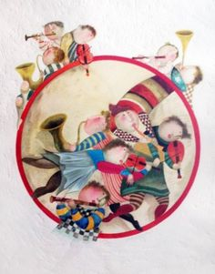 Circle of Musicians  1980 by Graciela Rodo Boulanger, Limited Edition Print, Serigraph on Paper