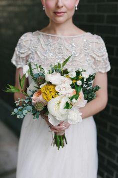 bouquet by Coriander Girl // photo by Celine Kim // http://ruffledblog.com/elegant-toronto-wedding