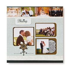 Blessings Divine Scrapbook Layout Project Idea from Creative Memories Wedding Scrapbook Pages, Scrapbook Albums, Scrapbooking Layouts, Digital Scrapbooking, Wedding Album, Wedding Book, Wedding Borders, New Project Ideas, Creative Memories