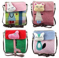 Caliente la venta de tela de hombro informal de dibujos animados juguete lindo bolsas de mensajero VQB12