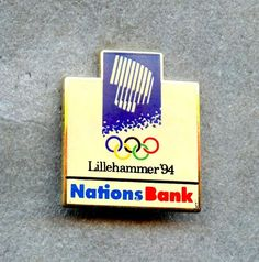 1994 lillehammer logo winter olympic games pin enamel nations bank from $6.99