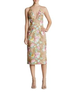 Dress the Population Mariah Embroidered Lace Slip Dress