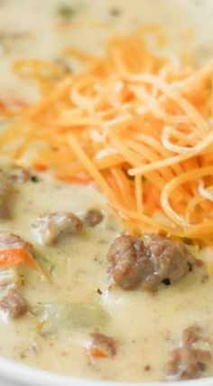 soup recipes with ground beef \ soup recipes & soup recipes healthy & soup recipes easy & soup recipes slow cooker & soup recipes vegetarian & soup recipes with ground beef & soup recipes healthy low calories & soup recipes instant pot Crock Pot Recipes, Beef Soup Recipes, Cheese Burger Soup Recipes, Healthy Soup Recipes, Dinner Recipes, Keto Recipes, Good Soup Recipes, Chicken Recipes, Quick Soup Recipes