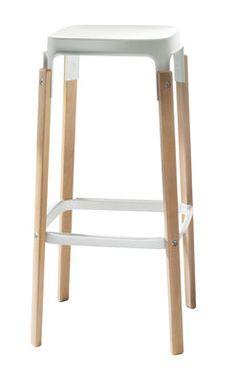 Steelwood Barhocker - zweifarbig - H 78 cm