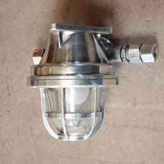 Polished cast aluminium bulkhead light | Antique Lighting | Andy Thornton