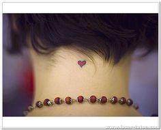 tiny heart tattoo designs | small heart tattoos for back [ Small Heart Tattoos For Girls ]