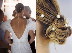 pearl pins at chanel {these could be pretty simple to make using a bobby pin, some hot glue and a nice faux pearl}