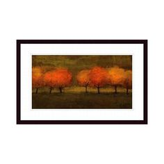 Gateway Art Resources 213386S61 Red Trees II Framed Art at ATG Stores