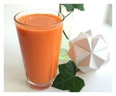 Lækker udrensende og energi-boostende gulerod ingefær juice. Drik den på de dage hvor energien er lidt lav eller du skal præstere lidt ekstra!