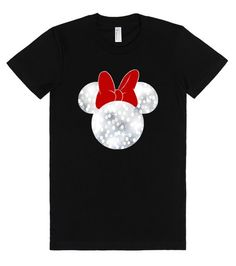 Sparkle Minnie Head T-shirt. Available in tons of sizes, colors and styles! Wanna add a name or other text? Just contact me at Angela@myhearthasears.com for your custom design!