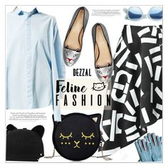 """""""Feline fashion"""" by teoecar ❤ liked on Polyvore featuring Charlotte Olympia, J.Crew, Karl Lagerfeld, Melissa and dezzal"""