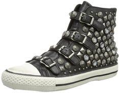Ash Victim ASH-88620-3, Damen Sneaker, Schwarz (black/silver turnish studs 1048), EU 37 - http://on-line-kaufen.de/ash-2/37-eu-ash-victim-88620-3-damen-sneaker