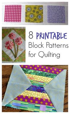 Every quilt has a foundation, the quilt block, which helps structure the quilt from the very beginning. Get started with a look inside Patterns for Quilting 8 Free Quilt Block Patterns to Make a Quilt for Your Home. Scrap Quilt Patterns, Pattern Blocks, Pattern Ideas, Free Pattern, Crazy Quilt Blocks, Patch Quilt, Star Blocks, Quilting Tutorials, Quilting Projects