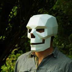 Now there is no reason for lame Halloween Costumes - Wintercroft.com had DIY pdfs you can print out and assemble using cereal boxes and spray paint. Genius!